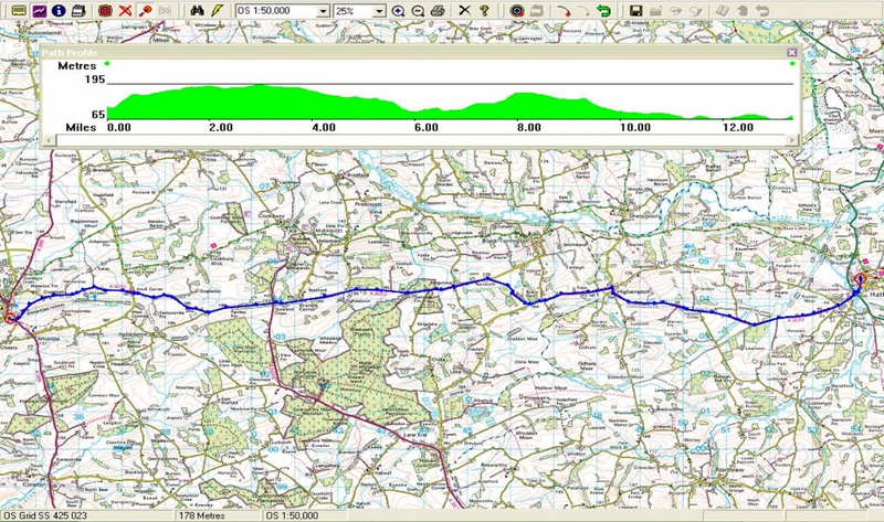 Holsworthy to Hatherleigh route